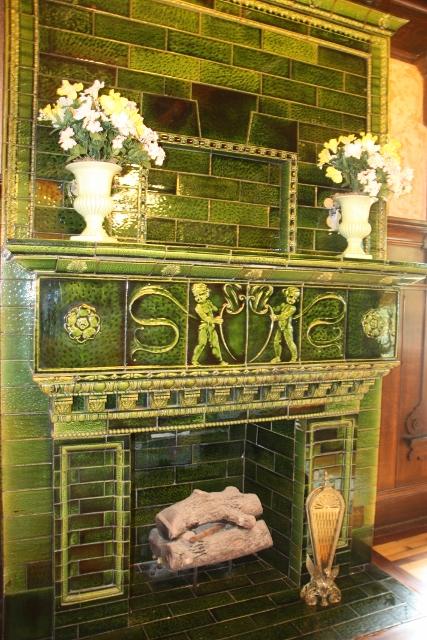 Trostel Mansion Majolca Fireplace